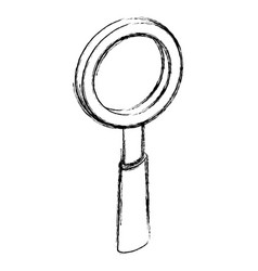 magnifying glass symbol 3d vector image