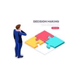making decision symbol vector image