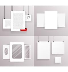 Mock Up Set Frames Boxes Paper Big Little vector image