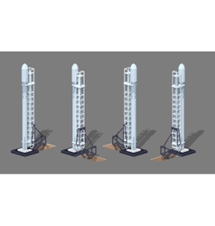 Modern space rocket on the launch pad vector image