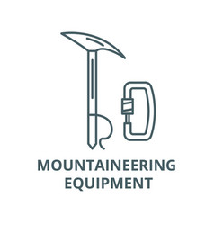 mountaineering equipment line icon linear vector image