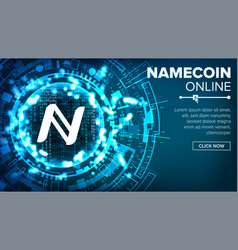 namecoin abstract technology background vector image