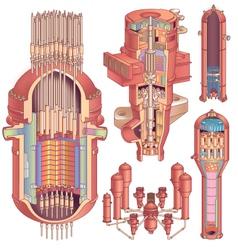 Nuclear Reactor Concept vector