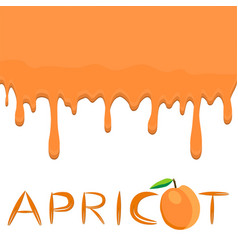 On theme falling runny apricot drip at sugary cow vector