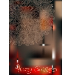 Ornamental circle christmas snowflake background vector