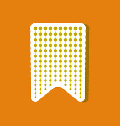 Paper sticker on stylish background garland vector