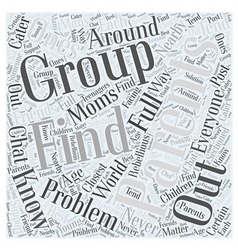 Parenting groups Word Cloud Concept vector