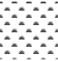 pizza oven with fire pattern vector image