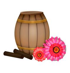 Propolis stick barrel honey icon cartoon style vector