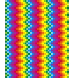 Rainbow pixel pattern vector