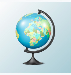 Realistic 3d globe planet earth vector
