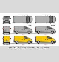 renault tragic cargo van l1h1 l2h1 2014-present vector image