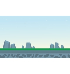 Rock and grass backgrounds game vector image