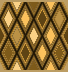 seamless geometric pattern wiith golden rhombuses vector image