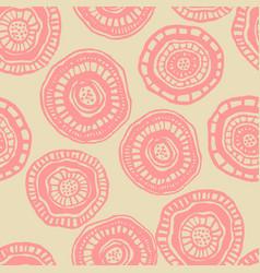 Seamless pattern with japan aborigine vector