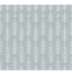 Seamless simple floral pattern vector