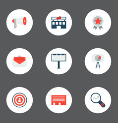 Set of marketing icons flat style symbols with vector