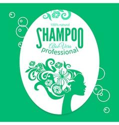 Shampoo women label vector
