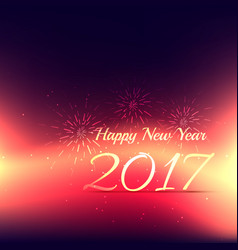 Shiny new year 2017 background with fireworks vector