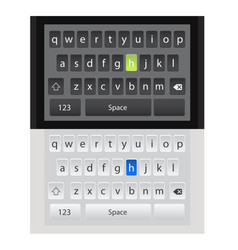 smartphone qwerty mobile keyboards mock-ups vector image