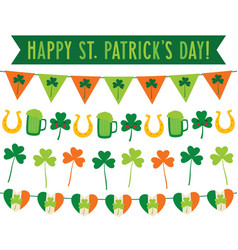 st patricks day party banners set vector image