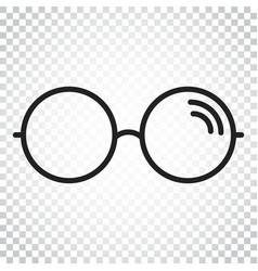 sunglass icon eyewear flat simple business vector image