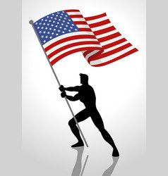 the united states of america flag bearer vector image