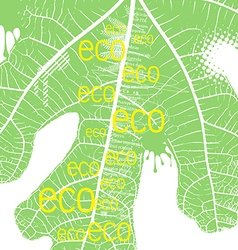 typography design of ecology vector image