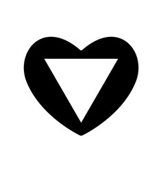 valentine s day with the sign of the triangle vector image