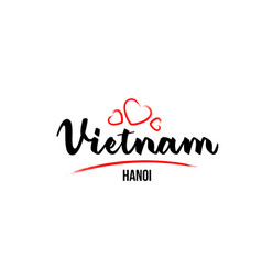 Vietnam country with red love heart and its vector
