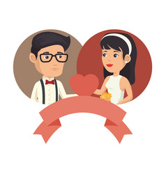 wedding couple design vector image