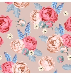 Wedding flowers seamless vector image