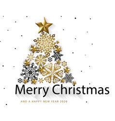 White golden merry christmas background vector