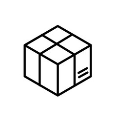 Wrapped cardboard box delivery icon thick line vector