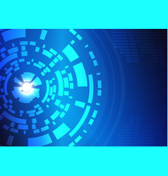 abstract technology circles background-9 vector image