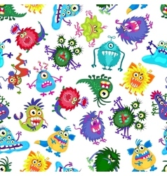 Cute monster party kids seamless pattern vector image vector image