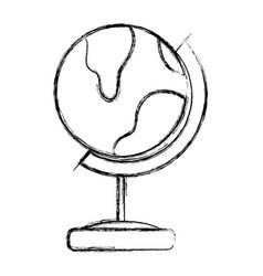 figure global earth planet desk design vector image