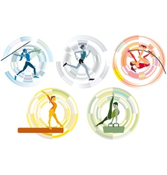 Five Sports Disciplines copia vector image vector image