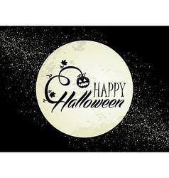 Happy Halloween full moon and pumpkin EPS10 file vector image
