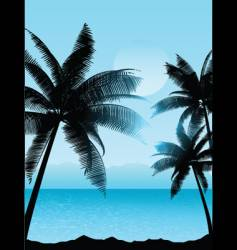 tropical scene vector image vector image