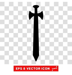 Medieval Sword Eps Icon vector image
