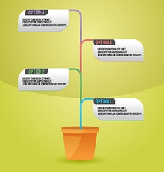 Tree Color Info Graphic Template vector image vector image