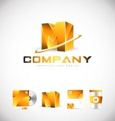 Alphabet letter m logo icon design vector