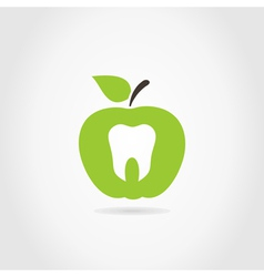 Apple a tooth vector image vector image