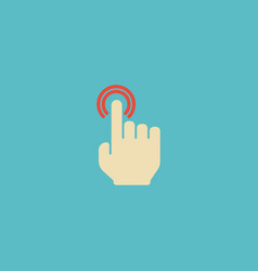 flat icon double click element vector image