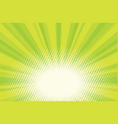 green natural eco sunrise pop art background vector image