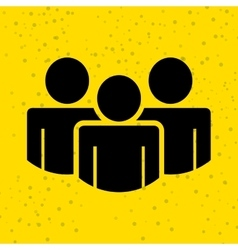 teamwork silhouettes design vector image vector image