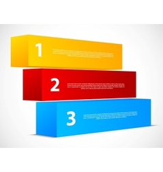 Abstract numbered banners vector image vector image