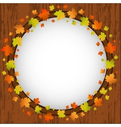 Autumn design frame wreath of colorful maple vector image