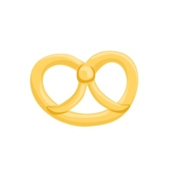 Pretzel isolated icon from set of bakery vector